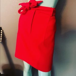 NWT LOFT Red Tie Skirt Perfect for the holidays